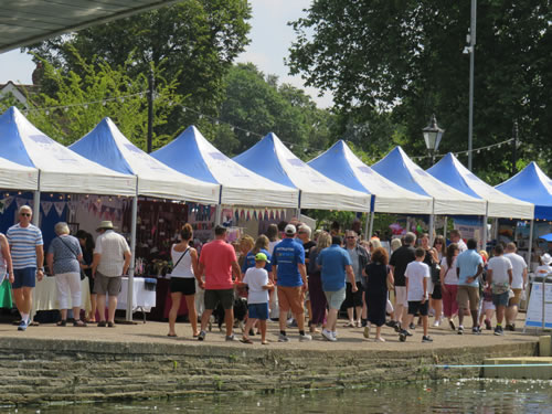 Example trading stall at the Bedford River festival